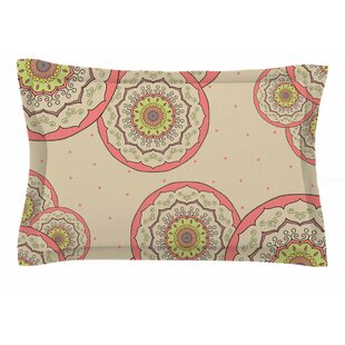 Cristina Bianco Design 'Pink Green Mandala Design' Illustration Sham
