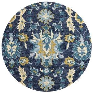 Francesca Hand-Hooked Blue/Beige Area Rug