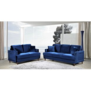 Aadi 2 Piece Living Room Set (Set of 2) by Mercer41