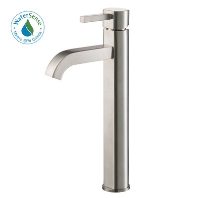 Waterfall Bathroom Faucet Clear Glass Disc