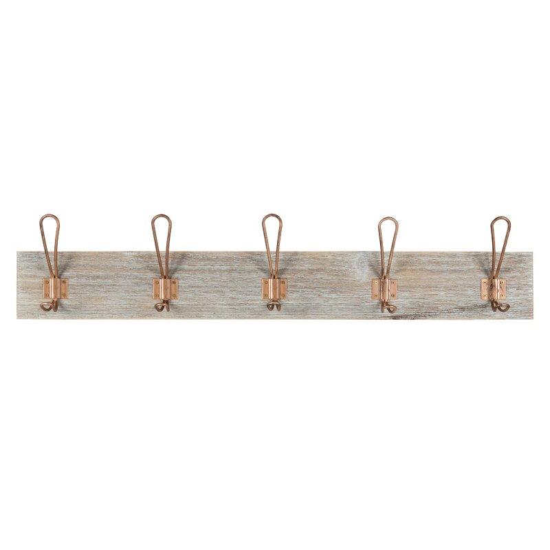 Wrought Studio Ophelia Wood Wall Mounted Coat Rack