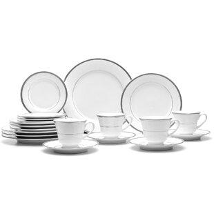 Regina Platinum 20 Piece Dinnerware Set, Service for 4