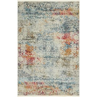 Comparison Lonerock Cream/Blue Area Rug By Bungalow Rose