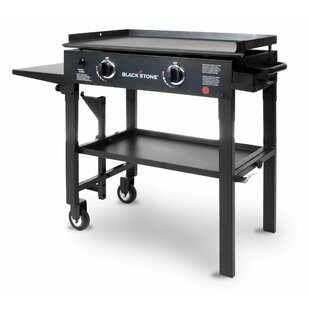 Affordable Price Blackstone 2-Burner Flat Top Propane Gas Griddle with Side Shelves Blackstone
