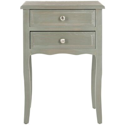 Philipston 2 Drawer Nightstand Color: French Gray by Andover Mills