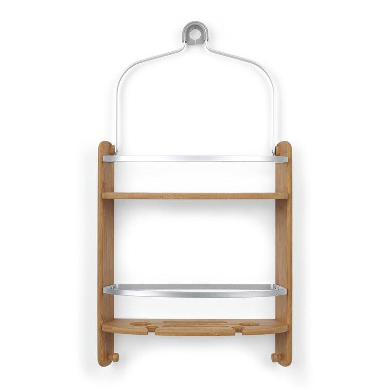 Barrel Wood Hanging Shower Caddy & Reviews | AllModern