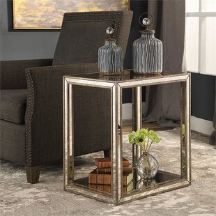 Robinson Mirrored End Table
