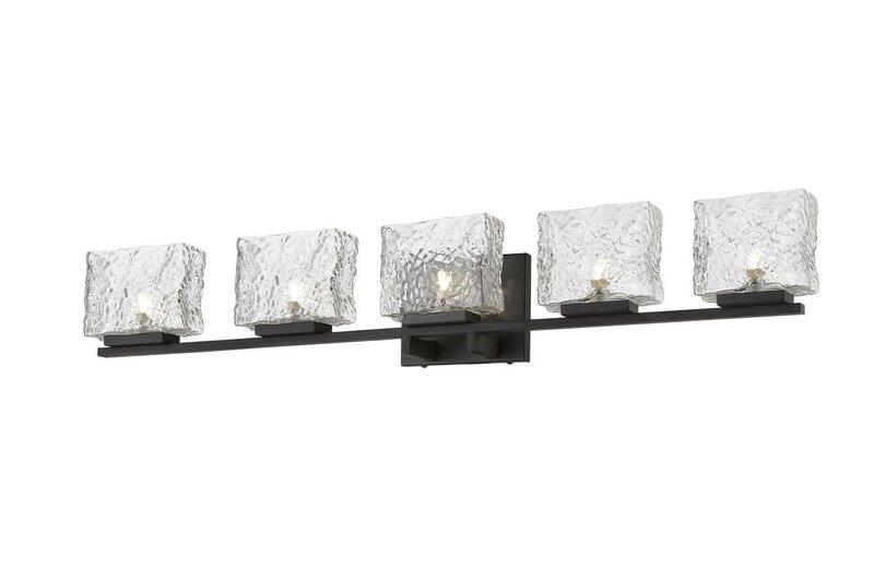 Orren Ellis Maust 5 Light Dimmable Vanity Light Reviews Wayfair