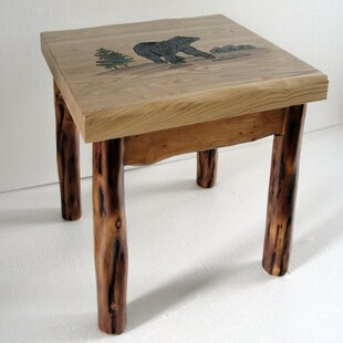 Lawton Bear End Table by Millwood Pines