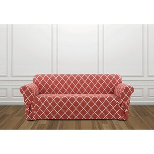 Lattice Box Cushion Sofa Slipcover