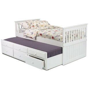 Twin Slat Bed with Trundle and Storage