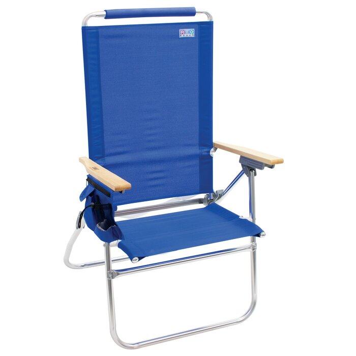 Groovy Hi Boy Tall Back Folding Beach Chair Machost Co Dining Chair Design Ideas Machostcouk
