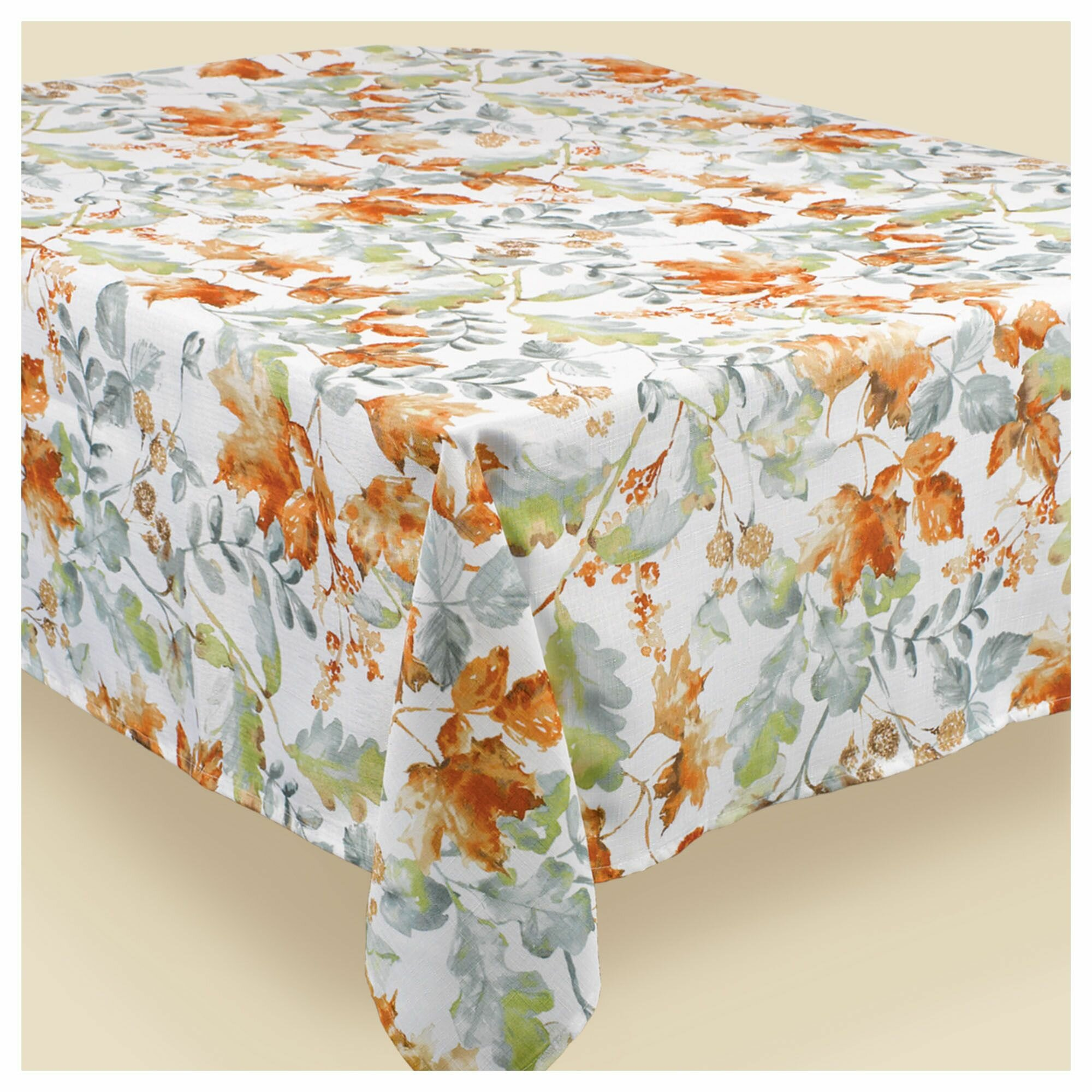 Fall Flannel Backed Vinyl Tablecloth