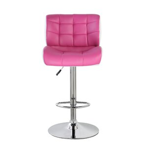 Adjustable Height Swivel Bar Stool  sc 1 st  Wayfair & Pink Bar Stools Youu0027ll Love | Wayfair islam-shia.org