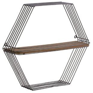 Ivy Bronx Mathilde Metal Hexagonal Wall S..
