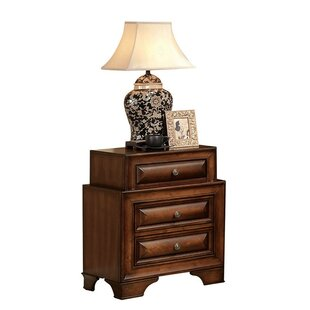 Haygarden Wooden 3 Drawer Nightstand