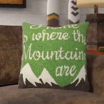Loon Peak Rangeworthy Camper At Night Wool Throw Pillow Wayfair