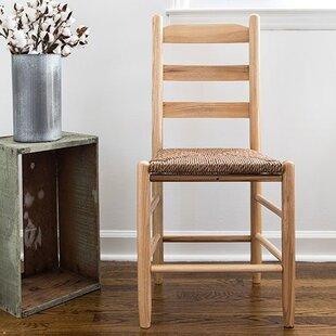 Pellerin Ladder Back Solid Wood Dining Ch..