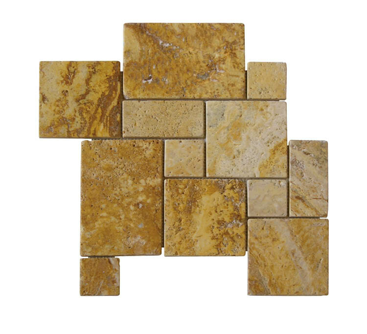 Natural Stone Mosaic Tile In Gold