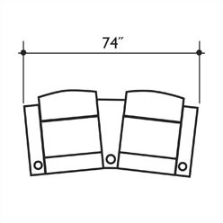 Signature Series Milan Home Theater Row Seating  Row of 2