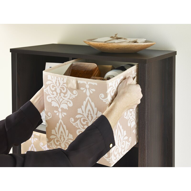 Exceptional Premium 2 Handle Storage Bin In Damask French Vanilla