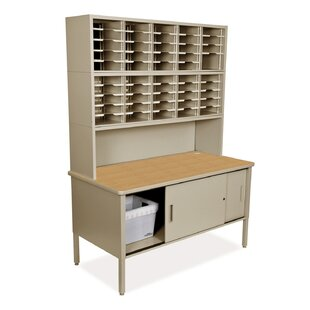 50 Compartment Mailroom Organizer by Marvel Office Furniture