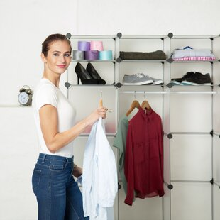 146cm Wide Clothes Storage System By Symple Stuff