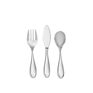 Kibo Toddler 3-Piece 18/10 Stainless Steel Flatware Set, Service for 1