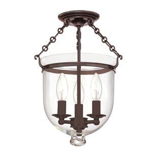 Hudson Valley Lighting Williamsburg Hampton 3-Light Semi Flush Mount