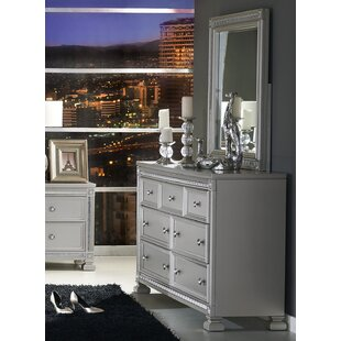 Lybarger 7 Drawer Dresser with Mirror