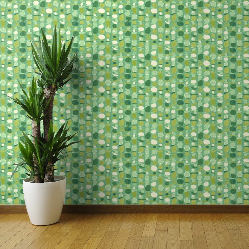Digital Grass Effect Wallpaper peel /& stick adhesive wallpaper /& furniture roll