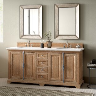 Ogallala 72 Double Driftwood Bathroom Vanity Set by Greyleigh