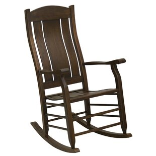 Alcott Hill Grindle Slat Back Rocking Chair