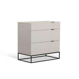 Humansville Wood and Metal 3 Drawer Dresser by Brayden Studio