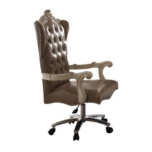 Astoria Grand Kimberly Executive Genuine Leather Office Chair