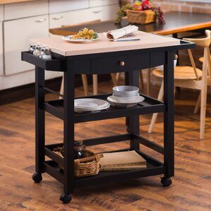 Giulia Kitchen Cart with Wood Top by Hokku Designs