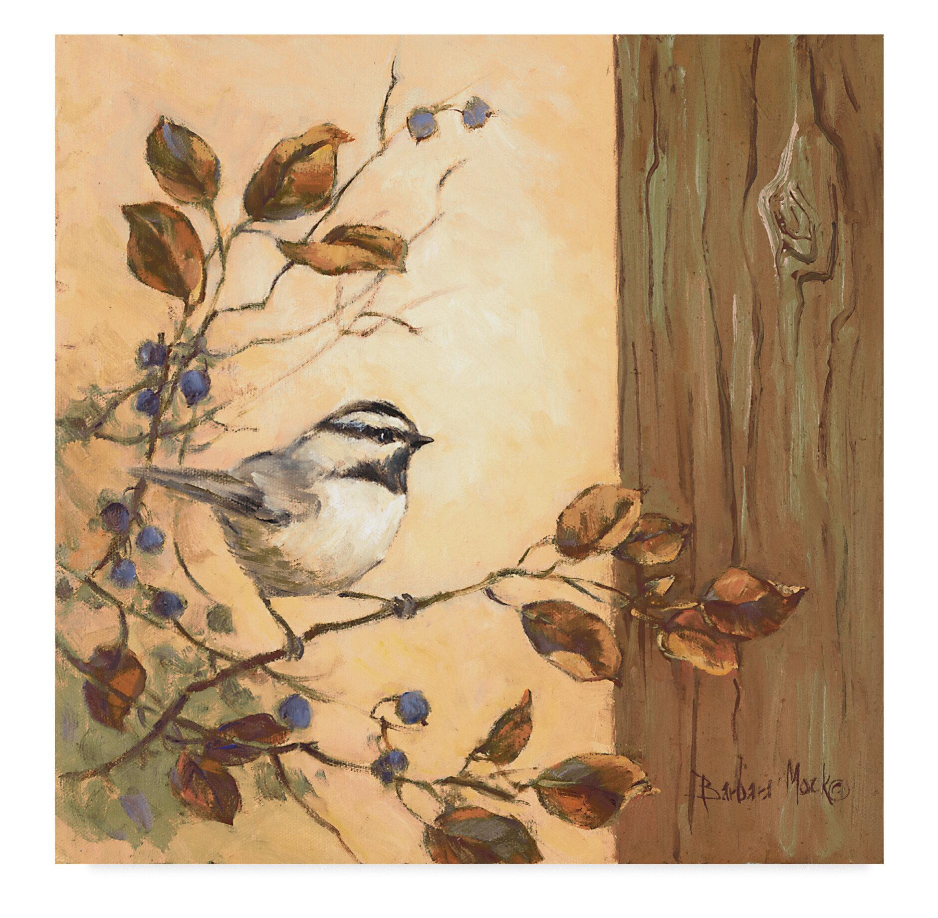 Charlton Home Chickadee Square Acrylic Painting Print On Wrapped Canvas Wayfair