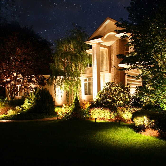 Outdoor Low Voltage Hardwired Led Spot Light Pack