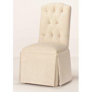 Pearce Diamond Tufted Skirted Side Chair ..