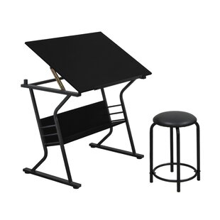 Eclipse Drafting Table and Chair Set By Studio Designs