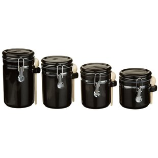Ceramic 4 Piece Kitchen Canister Set
