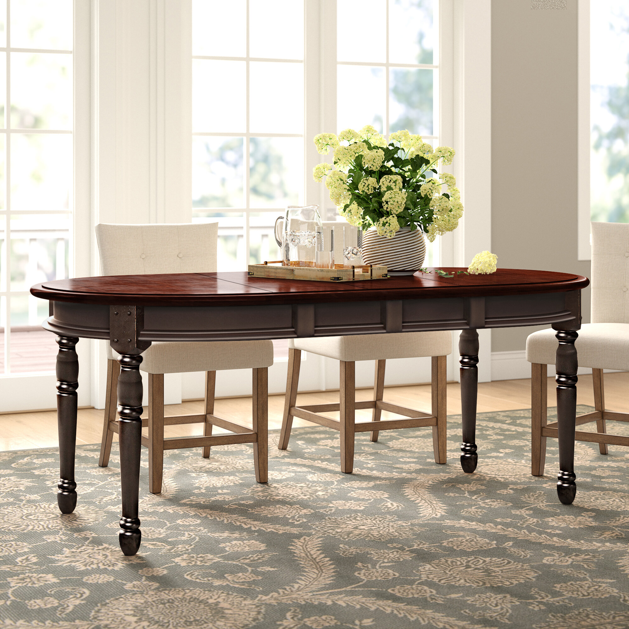 Laurel Foundry Modern Farmhouse Shelburne Extendable Solid Wood