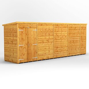 18 Ft. W X 4 Ft. D Shiplap Pent Wooden Shed By WFX Utility