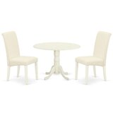 Arrie 3 Piece Drop Leaf Solid Wood Dining Set by Winston Porter
