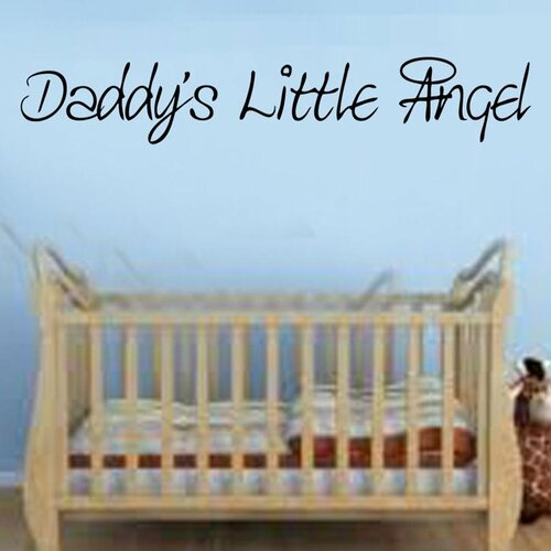 Daddys Little Angel Quote Decal Vinyl Wall Sticker East