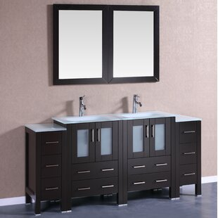 Larissa 72 Double Bathroom Vanity Set with Mirror by Bosconi