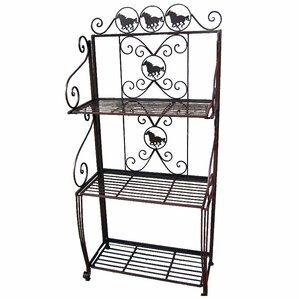 Metal Horse 3 Tier Standard Baker's Rack by De Leon Collections