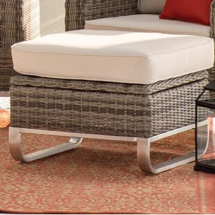 Highland Dunes Hollaway Ottoman with Cush..