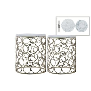 Polegate Round Metal 2 Piece Nesting Tables