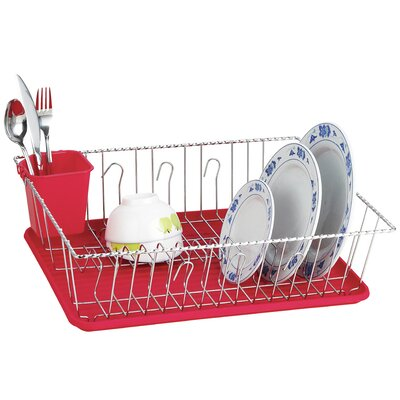 Twist Wire Large Dish Rack AmericanDream Finish: Red